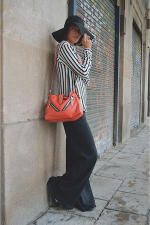 black striped Zara sweater