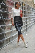 black pencil skirt Zara skirt