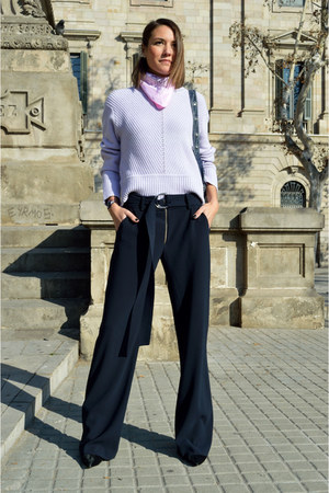 navy flared Zara pants