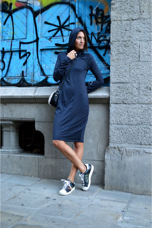 navy sporty Zara dress