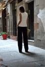 Ivory-front-row-shop-vest-navy-loose-wide-leg-zara-pants
