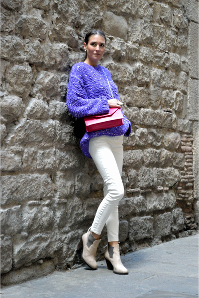 Purple Knits H&m Trend Sweater