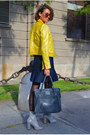 Yellow-leather-antonio-miró-jacket-silver-zara-heels