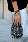 Silver-metallic-front-row-shop-skirt