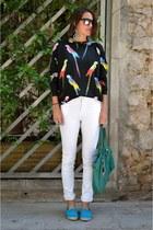 black Bershka sweater - white Pour jeans
