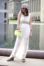 Tan-dolce-vita-boots-off-white-maxi-dress-h-m-dress
