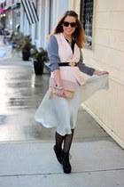 black Bakers boots - light pink color block Forever 21 blazer