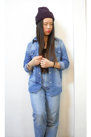 vintage jeans - H&M hat - online shirt