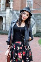 Forever 21 skirt - thrifted vintage hat - Express jacket