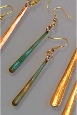 gold handmade John S Brana earrings - silver jewelry John S Brana accessories -