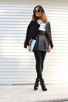 quilted black Again Apparel skirt - sports bomber Evan-Evina jacket