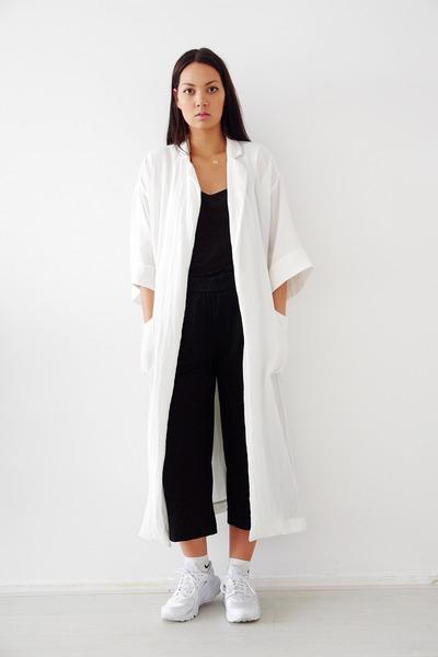 nike sneakers - weekday coat - H&M pants - Irresistible Me hair accessory