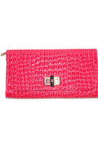 Pink Crocodile Clutch