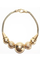 Golden Balls Necklace