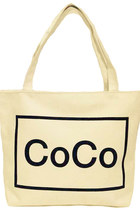 Coco Canvas Bag White