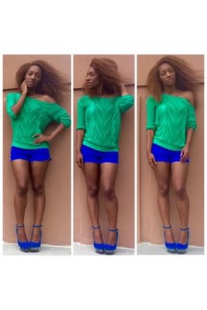 Electric Blue Cutoffs shorts
