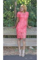 coral custom made dress