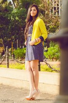 yellow Spring Break jacket - neutral asos shoes - navy Charlotte Russe dress