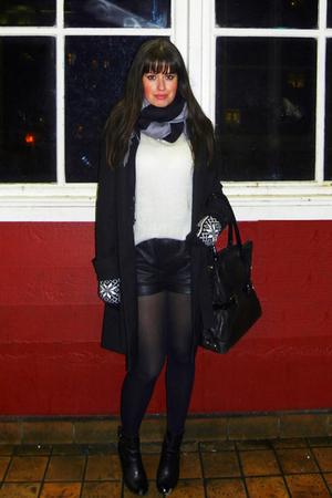 black Cheap Monday shorts - white GINA TRICOT sweater - black Marc by Marc Jacob