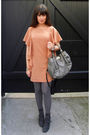 Orange-h-m-dress-gray-h-m-stockings-gray-marni-purse-gray-surface-to-air-b
