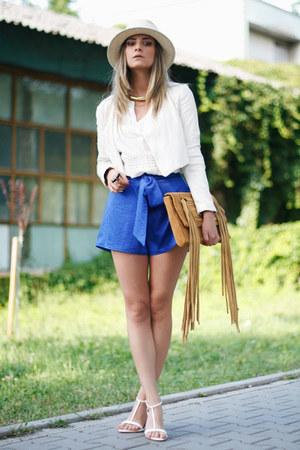 Bershka jacket - Nifty Josephine shorts - Orsay blouse - H&M sandals