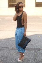 asos bodysuit - Love Cortnie bag - madewell sunglasses - Gap pants - Zara heels