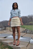 chambray the gap shirt - platform Pour La Victoire shoes