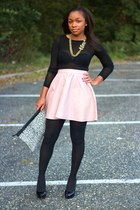 Love Cortnie bag - Express tights - H&M skirt - madewell necklace