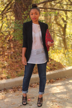 Nordstrom top - citizens of humanity jeans - Anthropologie blazer