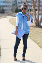 La Petite Marmoset vest - Blank Denim jeans - Love Cortnie bag - JCrew top