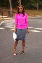 Forever 21 sweater - Love Cortnie bag - bcbg max azria skirt