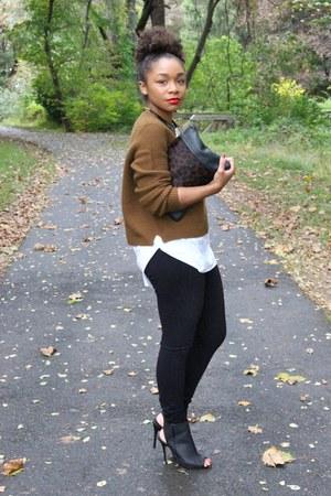 JCrew sweater - Love Cortnie bag - JCrew pants - Aldo heels