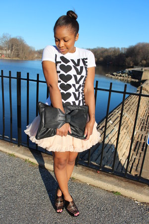 Urban Outfitters shirt - Love Cortnie bag - American Apparel skirt - Aldo heels