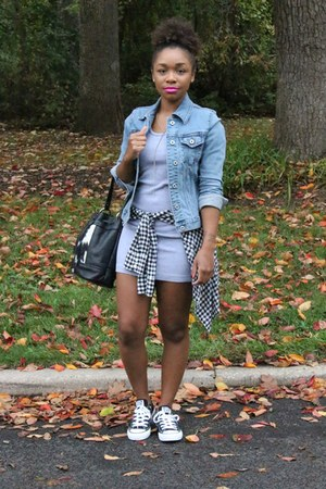 Gap jacket - American Apparel dress - Love Cortnie bag - JCrew top