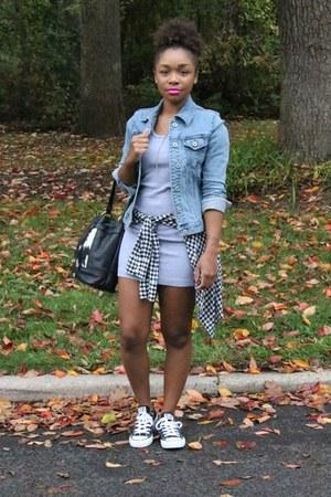Gap jacket - American Apparel dress - Love Cortnie bag - JCrew top