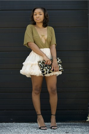 Nordstrom top - Love Cortnie bag - American Apparel skirt - Zara heels