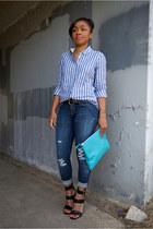 citizens of humanity jeans - Love Cortnie bag - JCrew top - Steve Madden heels