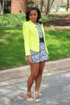 Zara jacket - JCrew t-shirt - Forever 21 skirt - Aldo heels