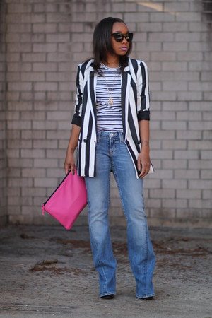 Zara blazer - True Religion jeans - JCrew shirt - Love Cortnie bag