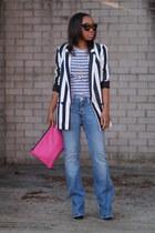 Zara blazer - True Religion jeans - JCrew shirt - Love Cortnie bag