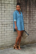 Gap top - Love Cortnie bag - Nine West heels - Atlantis Dry Goods earrings
