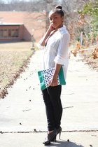Love Cortnie bag - bcbg max azria pants - Express top - Aldo heels