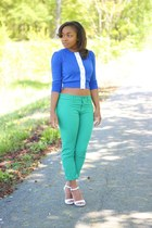 Anthropologie top - Gap jeans - Aldo heels