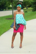 bcbg max azria skirt - Love Cortnie bag - DIY top - Zara heels