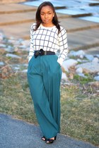 Forever 21 sweater - thrifted pants - Anthropologie belt