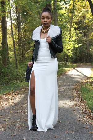 bcbg max azria jacket - Missguided dress - Love Cortnie bag - ann taylor heels