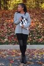 JCrew sweater - Love Cortnie bag - DIY pants - ann taylor heels