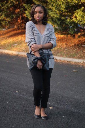 JCrew sweater - Love Cortnie bag - bcbg max azria pants - Gap flats