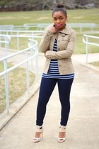 H&M jacket - JCrew t-shirt - JCrew pants - Kors Michael Kors heels