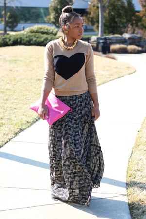 JCrew sweater - Anthropologie dress - Love Cortnie bag